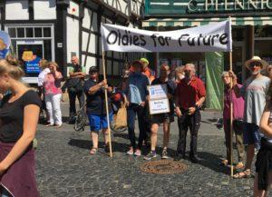 Der Kreistagsaabgeordnte auf der FFF Demo in Fritzlar