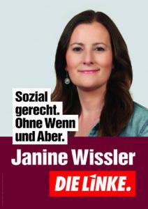 Janine Wissler - Sozial gerecht. Ohne Wenn und Aber.