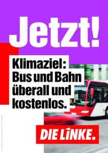 Klimaziel: Bus und Bahn überall und kostenlos